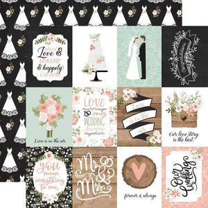 "Scrapbooking  Our Wedding Double-Sided Cardstock 12""X12"" - 3x4 Journaling Cards Paper 12""x12"""
