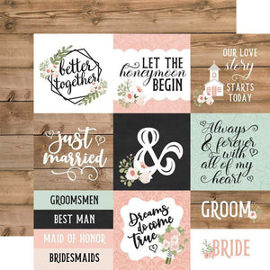 "Scrapbooking  Our Wedding Double-Sided Cardstock 12""X12"" - 4x4 Journaling Cards Paper 12""x12"""