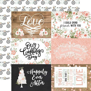 "Scrapbooking  Our Wedding Double-Sided Cardstock 12""X12"" - 6x4 Journaling Cards Paper 12""x12"""