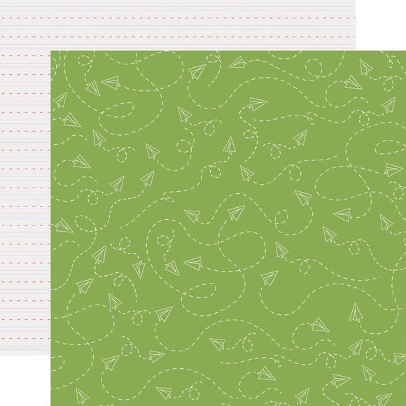 Scrapbooking  School Rules Double-Sided Cardstock 12