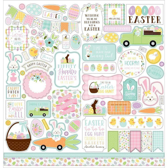 Scrapbooking  Welcome Easter Cardstock Stickers 12