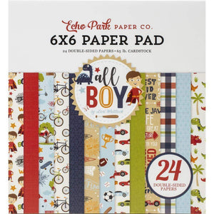 "Scrapbooking  All Boy Double-Sided Paper Pad 6""X6"" 24/Pkg , 12 Designs/2 Each Paper 12x12"