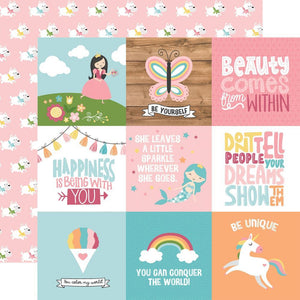 "Scrapbooking  All Girl Double-Sided Cardstock 12""X12"" - 4x4 Journaling Cards Paper 12x12"