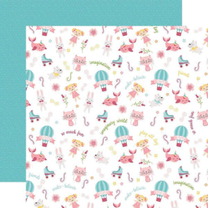 "Scrapbooking  All Girl Double-Sided Cardstock 12""X12"" - Imagination Paper 12x12"