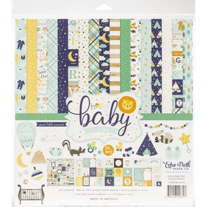 "Scrapbooking  Echo Park Hello Baby Boy 12'x12"" Colletion Kit Paper 12x12"