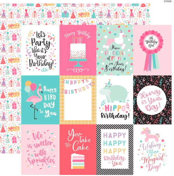 Scrapbooking  It's Your Birthday Girl Double-Sided Cardstock 12