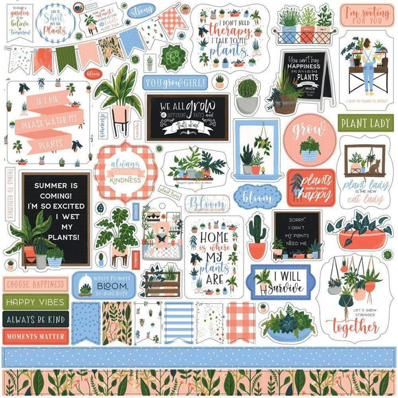 Scrapbooking  Plant Lady Cardstock Stickers 12