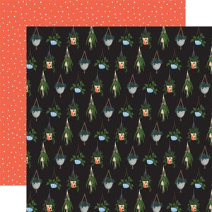 "Scrapbooking  Plant Lady Double-Sided Cardstock 12""X12"" - Hanging Plants Paper 12x12"