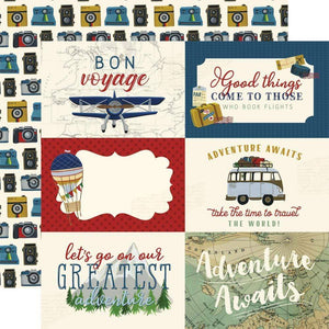 "Scrapbooking  Scenic Route Double-Sided Cardstock 12""X12"" 6x4 Journaling Cards Paper 12x12"