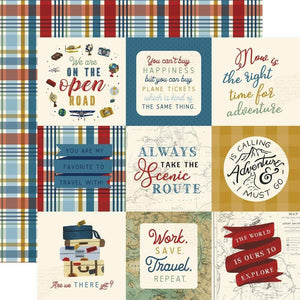 "Scrapbooking  Scenic Route Double-Sided Cardstock Paper 12""X12"" 4x4 Journaling Cards Paper 12x12"