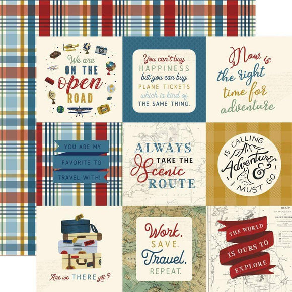 Scrapbooking  Scenic Route Double-Sided Cardstock Paper 12