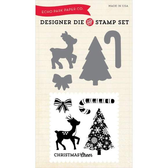 Scrapbooking  Christmas Cheer Designer Die and Stamp Set Paper Collections 12x12