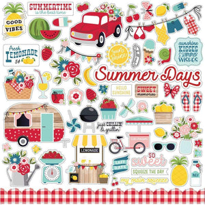 "Scrapbooking  A Slice Of Summer Cardstock Stickers 12""X12"" Elements stickers"