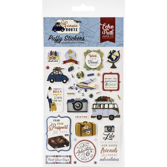 Scrapbooking  Scenic Route Puffy Stickers stickers