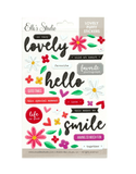 Scrapbooking  Elles Lovely Puffy Stickers kit