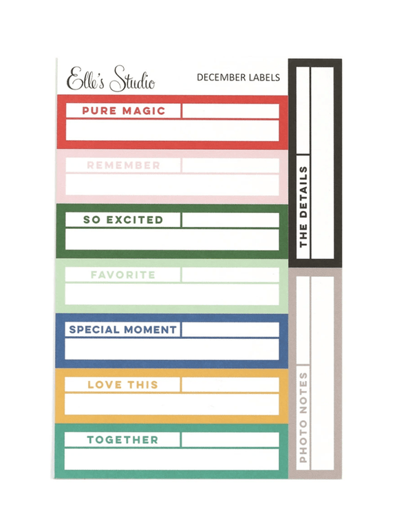 Scrapbooking  Elles Studio - December 2020 Labels kit