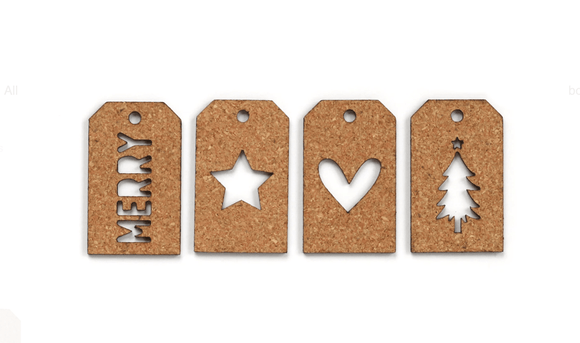 Scrapbooking  Elles Studio - Holiday Cork Tags kit