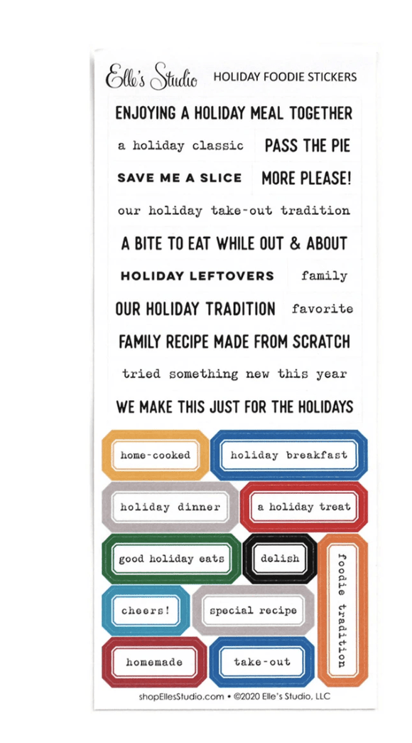 Scrapbooking  Elles Studio - Holiday Foodies Stickers kit