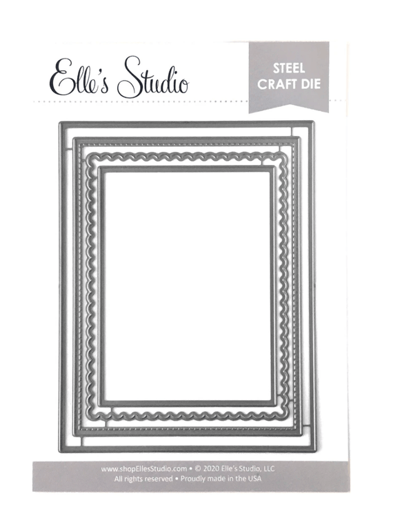 Scrapbooking  Elles Studio - Layered Card Metal Die kit