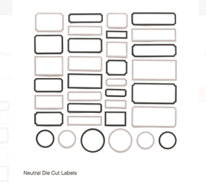 Scrapbooking  Elles Studio - Neutral Die Cut Labels kit