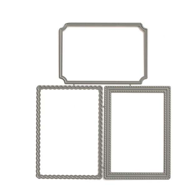 Scrapbooking  Elles Studio - Pocket, Frame, and Flip Up - Extra Frames Metal Die kit