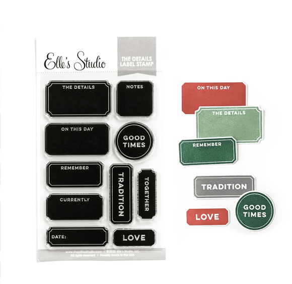 Scrapbooking  Elles Studio - The Details Label Stamp kit
