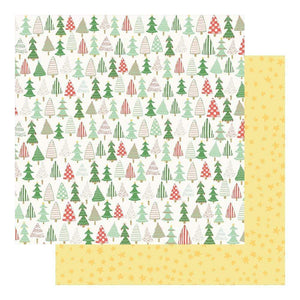 "Scrapbooking  Wishmas Double-Sided Cardstock 12""X12"" - Christmas Trees Paper 12""x12"""