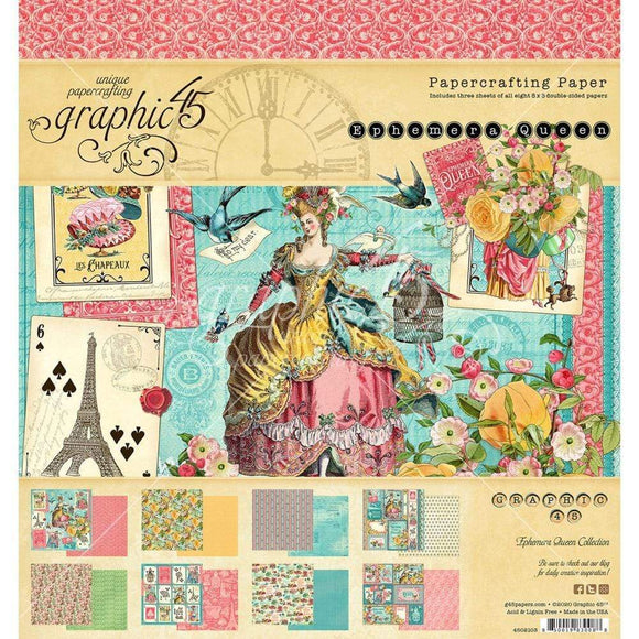 Scrapbooking  Graphic 45 Double-Sided Paper Pad 8