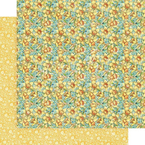 "Scrapbooking  Fairie Wings Double-Sided Cardstock 12""X12 - Daffodil Dance Paper 12x12"