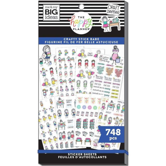 Scrapbooking  Happy Planner Sticker Value Pack Stick Girls Craft, 748/Pkg Planners