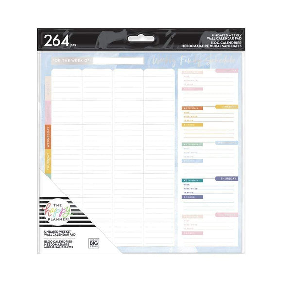 Scrapbooking  Happy Planner Undated Weekly Wall Calendar 9