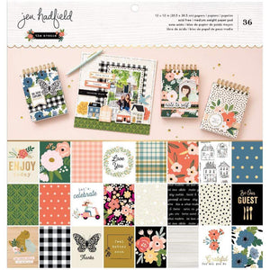 "Scrapbooking  ****IN TRANSIT **Jen Hadfield The Avenue-Sided Paper Pad 12""X12"" 36/Pkg , 12 Designs Paper Pad"