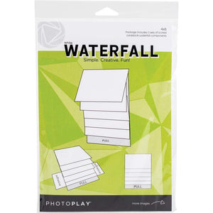 "Scrapbooking  PhotoPlay Maker Series 4""X6"" Mechanical White Waterfall Cards"