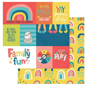 "Scrapbooking  We Can Just Stay Home Double-Sided Cardstock 12""X12"" - Family Fun Paper 12x12"