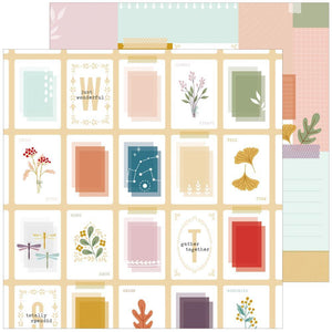 "Scrapbooking  Days Of Splendor Double-Sided Cardstock 12""X12"" - Totally Splendid Paper 12""x12"""