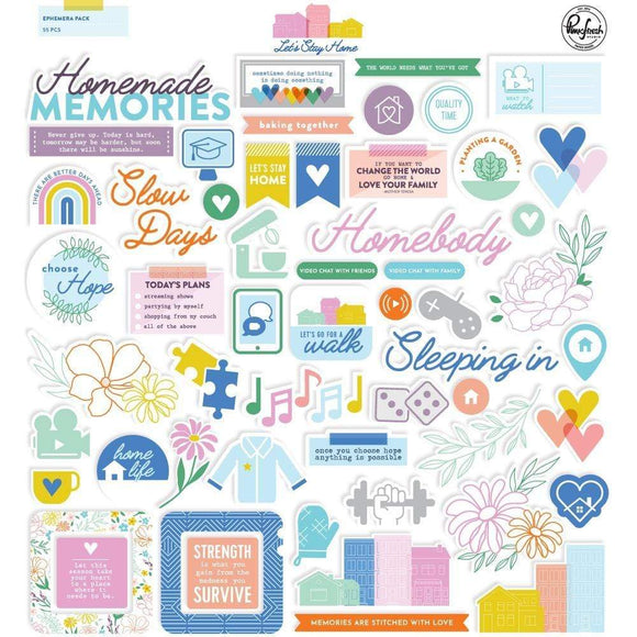 Scrapbooking  Let's Stay Home Cardstock Die Cuts 55pk Paper 12