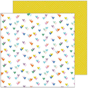 "Scrapbooking  Let's Stay Home Double-Sided Cardstock 12""X12"" - Kind Hearts Paper 12""x12"""