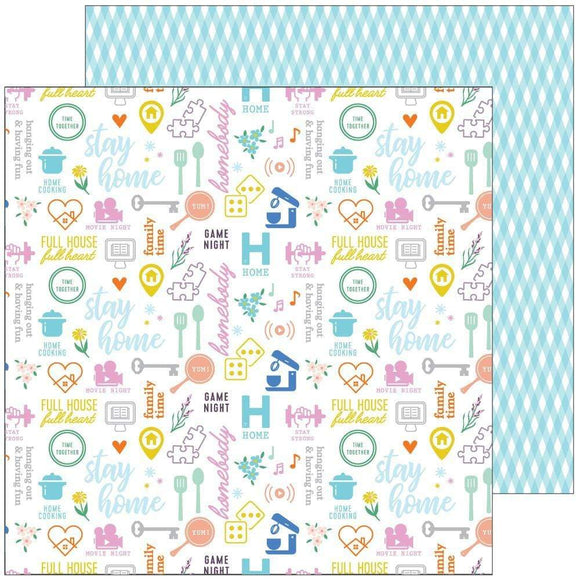 Scrapbooking  Let's Stay Home Double-Sided Cardstock 12