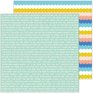 "Scrapbooking  Let's Stay Home Double-Sided Cardstock 12""X12"" - You Are Stronger Paper 12""x12"""