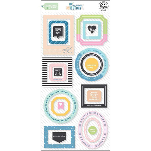 Scrapbooking  My Favorite Story Chipboard Frames & Accent Stickers Paper 12x12