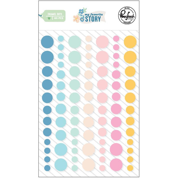 Scrapbooking  My Favorite Story Enamel Dot Stickers  84pk Paper 12x12