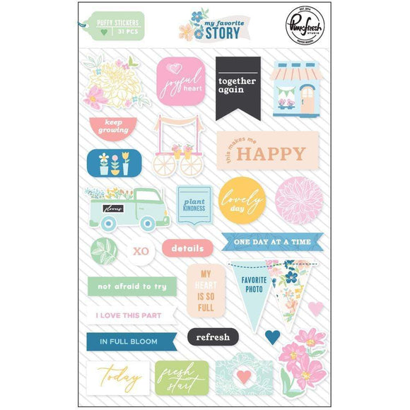 Scrapbooking  My Favorite Story Puffy Stickers 30pc Paper 12x12