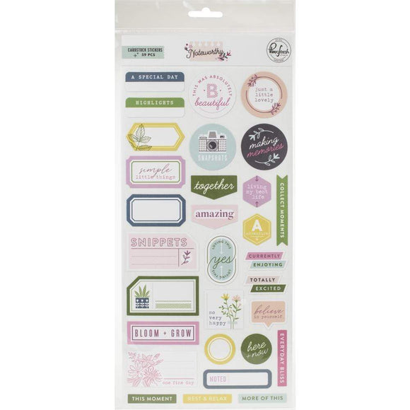 Scrapbooking  Noteworthy Cardstock Stickers 12x12 inch Paper 12x12