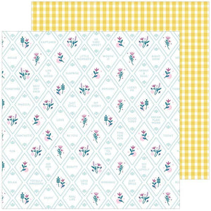 "Scrapbooking  Noteworthy Double-Sided Cardstock 12""X12"" - Happy Thoughts Paper 12x12"