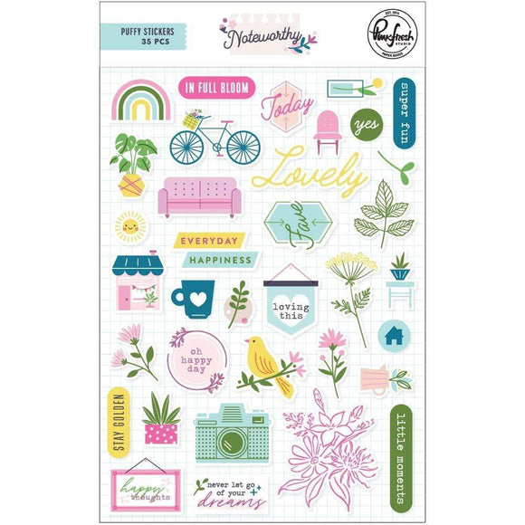 Scrapbooking  Noteworthy Puffy Stickers Paper 12x12