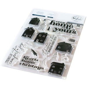 "Scrapbooking  Pinkfresh Studio Clear Stamp Set 4""X6"" Our Home To Yours Stamps"