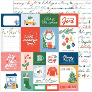 "Scrapbooking  Oh What Fun Double-Sided Cardstock 12""X12"" - Good Tidings stickers"