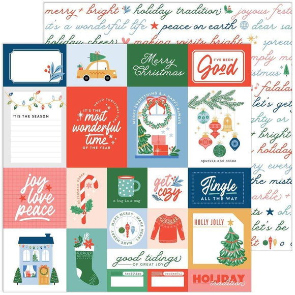 Scrapbooking  Oh What Fun Double-Sided Cardstock 12
