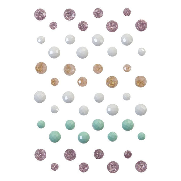 Scrapbooking  Prima Marketing Sugar Cookie Say It In Crystals Assorted Dots 48/Pkg Paper Pad
