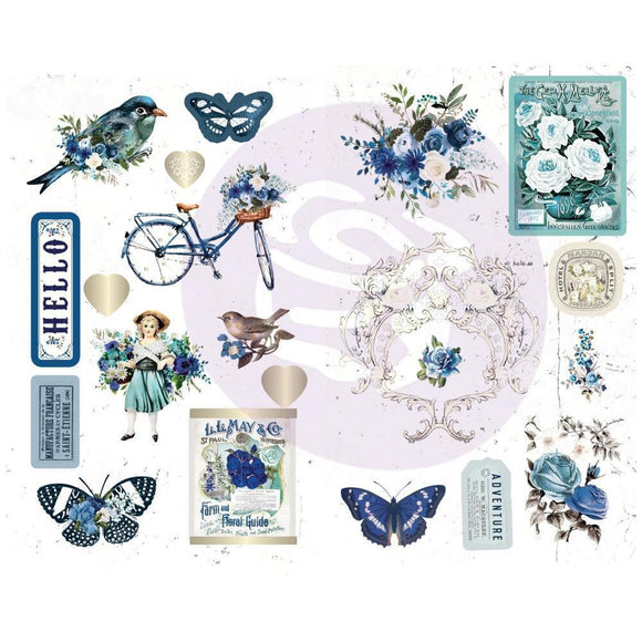 Scrapbooking  Georgia Blues Chipboard Stickers 5